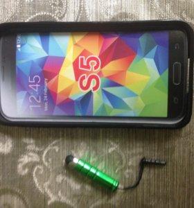 Чехол на Samsung Galaxy S5 новый+подарок