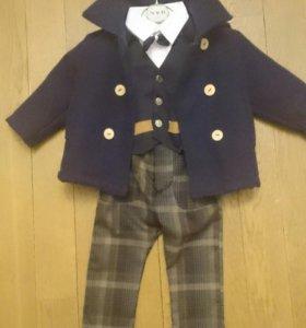 Пальто детское+костюм