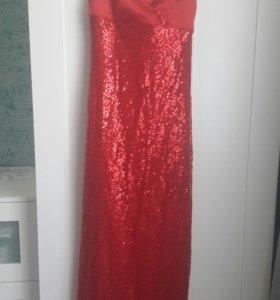 Платье в пол р44