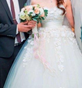 Свадебное платье + туфельки
