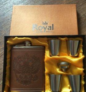Фляжка и рюмки Royal набор подарочный