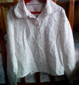 Блузки, рубашка на девочку 128 и 146-152.