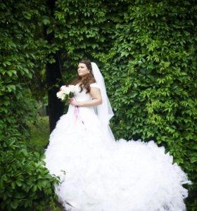 Свадебное платье эксклюзивное 52-56