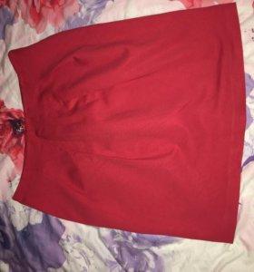 Красная юбка ,размер 50