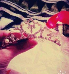 Диадема и перчатки свадебные