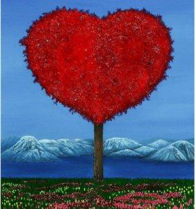 """Картина """"влюбленные сердца"""""""