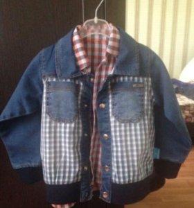 Курточка+рубашка