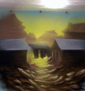 Роспись интерьеров,граффити оформление