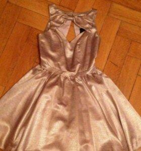 Вечернее платье, золотое, River Island