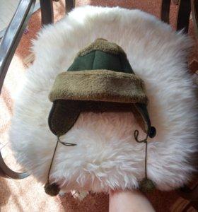 Дубленка на девочку, шапка