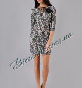 Платье с гипюром на 44-46рр