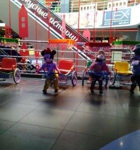Детский аттракцион робот рикша