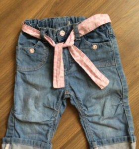 бриджи джинсовые H&M р. 74-80