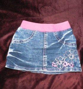 Юбка джинсовая 1-2года