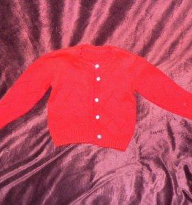 Вязанная кофта Бордо , 2-3 года