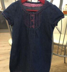 Джинсовое платье 2-4