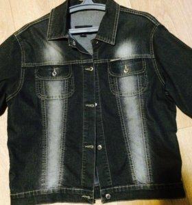 Джинсовая куртка (размер 48-50)