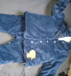 Детский комплект утепленный 74 размер
