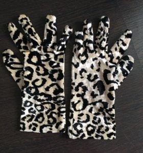 Перчатки велюровые