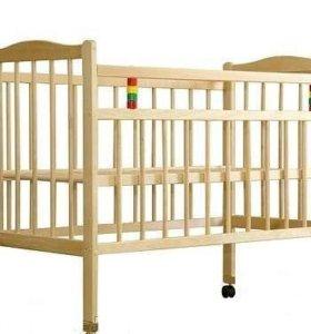 Продам кроватку с матрацем