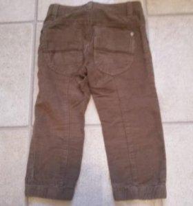Вельветовые брюки 90см