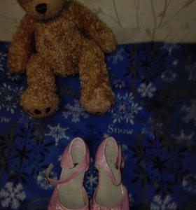 Туфельки для девочки 27 размер новые