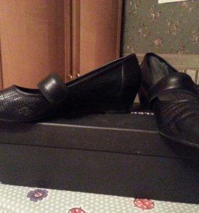 Туфли 36-37 размер кожаные