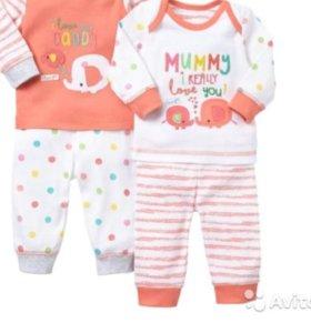 Новые пижамки Mothercare д/д 3-6 мес 2 шт