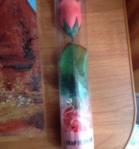 Мыло в виде розы