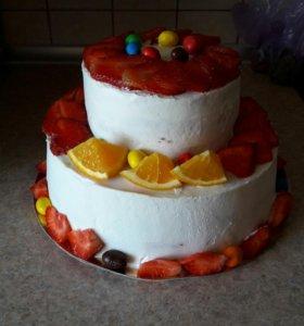 Тортик-сникерс!