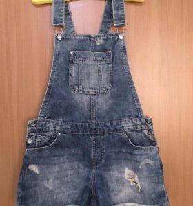 Шорты новые джинсовые с грудкой