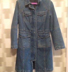 Джинсовое пальто 42-44