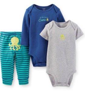 Комплекты два боди и штанишки Carters на мальчика
