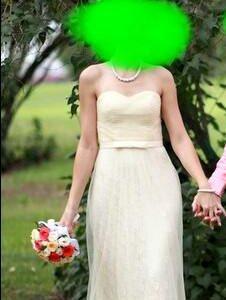 Платье нежно бежевое