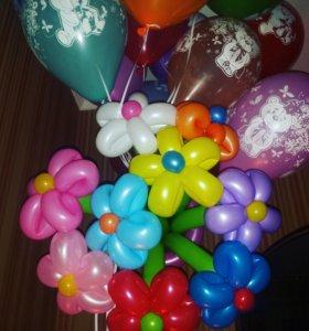 Гелиевые шарики под потолок 25шт-1390р