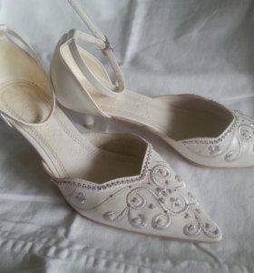Туфли свадебные 37,5