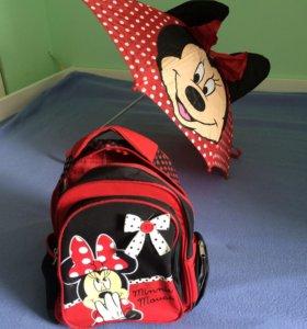 Рюкзачок и зонтик Disney Minnie Mouse
