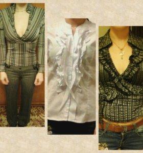 Рубашки, блузки, брюки 40-42
