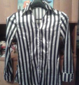Блуза в полоску шёлк