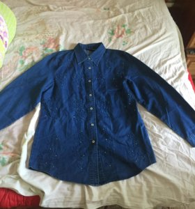 Новая джинсовая рубашка LafeiNier