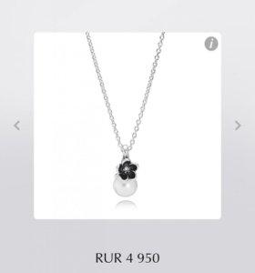 Подвеска Пандора оригинал серебро с жемчугом