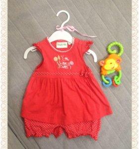 Новое платье для малышки 0-3 мес.