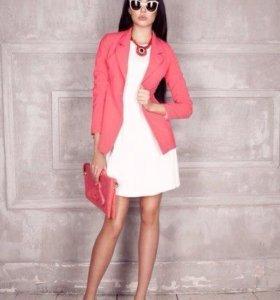 Розовый пиджак новый