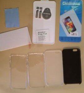 Защитное стекло и чехлы для iphone 6 4.7