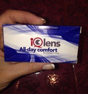 Продам новые линзы IQ Lens All-day comfort