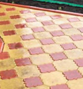 Укладка брусчатки и тротуарной плитки.