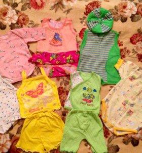Боди и летние костюмчики для малышки.