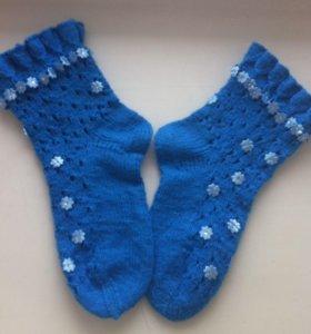Вязаные ажурные носочки