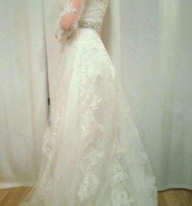 Новое свадебное платье 42-44р