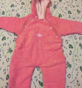 Комбинезон розовый,размер 68-70